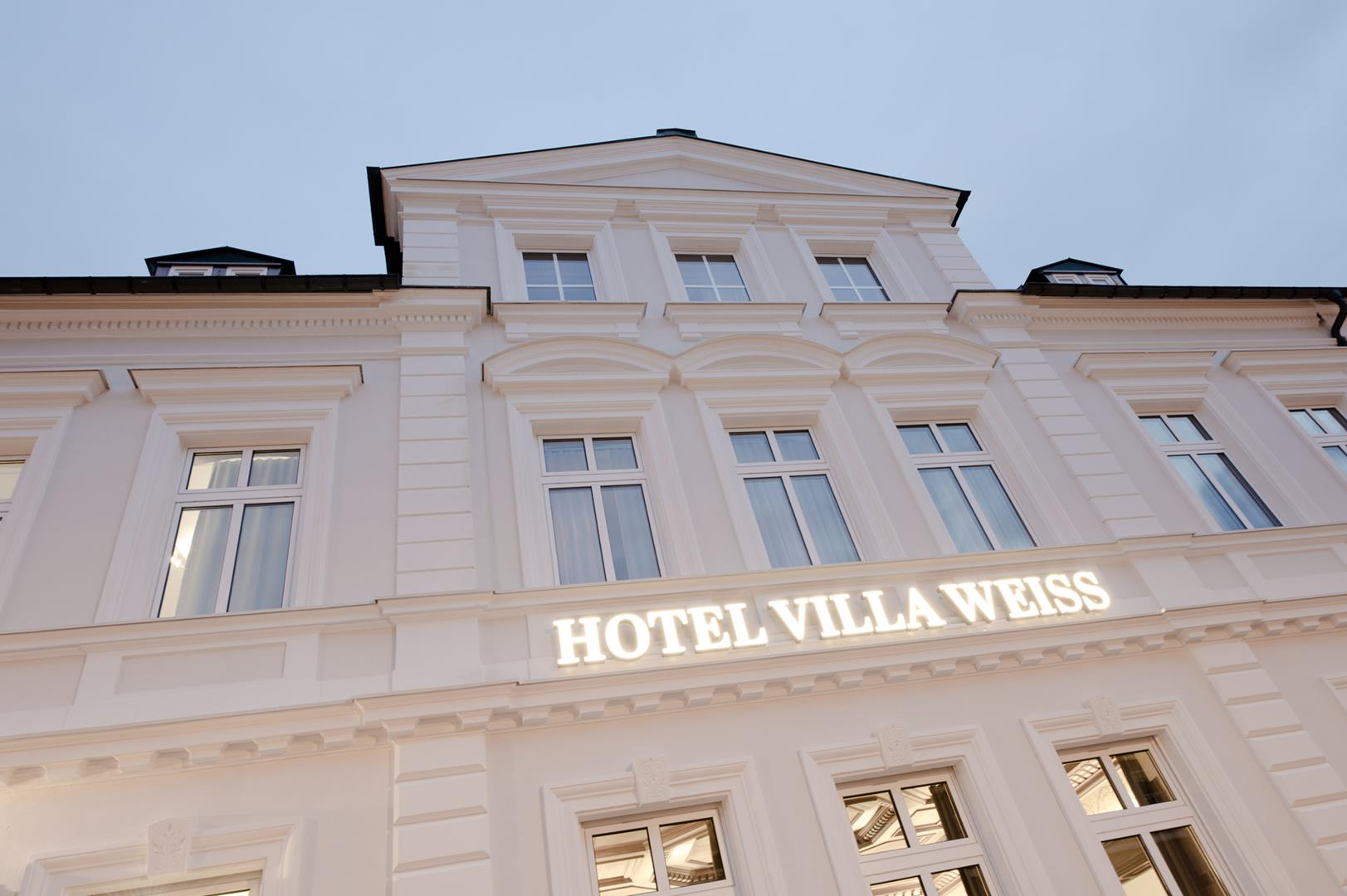 Villa Weiss in der Frontansicht