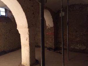 Rohbau in der Sauna der Villa Weiss Musik