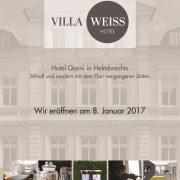 VILLA WEISS - Hoteleröffnung am 08.01.2017, Hotel Garni mit Musik
